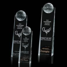 Custom-Engraved Crystal Awards - Dunbar Golf Tower