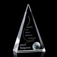 Color Accented Crystal Awards - Holborn Golf Award