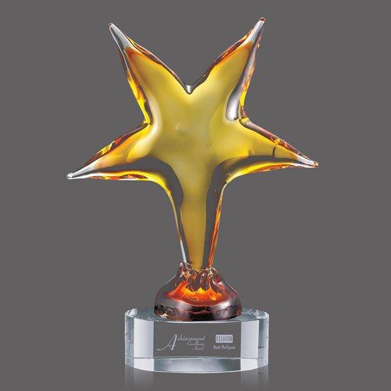 Triumph Star Award on Clear Base