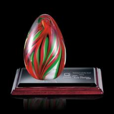 Custom Art Glass Awards Plaques & Trophies - Bermuda Award