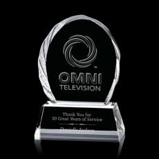 Custom-Engraved Crystal Awards - Liquid Crystal- Tottenhan on Optical