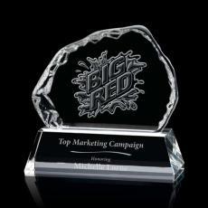 Custom-Engraved Crystal Awards - Liquid Crystal- Aspen on Optical