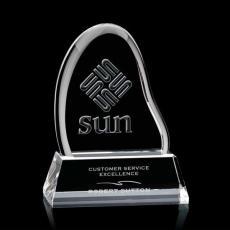 Custom-Engraved Crystal Awards - Liquid Crystal- Adelaide on Optical