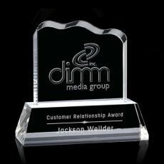 Custom-Engraved Crystal Awards - Liquid Crystal- Lennox on Optical