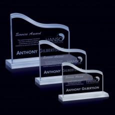 Custom-Engraved Crystal Awards - Steeles Award