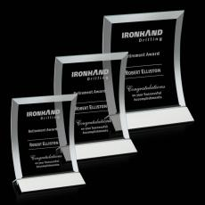 Custom-Engraved Crystal Awards - Dominga Award