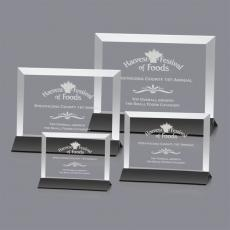 Custom-Engraved Crystal Awards - Embassy