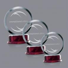 Custom-Engraved Crystal Awards - Vernet Award