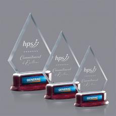 Custom-Engraved Crystal Awards - Tripoli Award