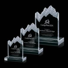 Custom-Engraved Crystal Awards - Kilimanjaro Mountain Award