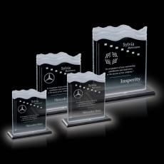 Custom-Engraved Crystal Awards - Chesapeake Award