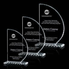 Custom-Engraved Crystal Awards - Trinidad Award