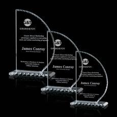 Custom-Engraved Crystal Awards - Stockton Award