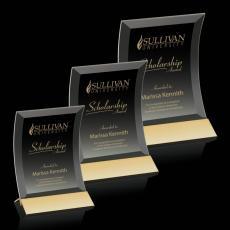 Custom-Engraved Crystal Awards - Dominga Award