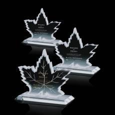 Clear Glass Awards - Maple Leaf Award