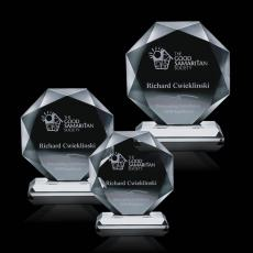 Custom-Engraved Crystal Awards - Bradford Award