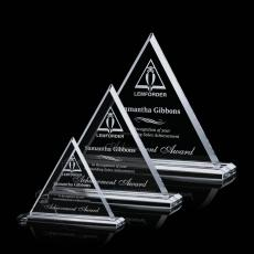 Color Accented Crystal Awards - Dresden Award
