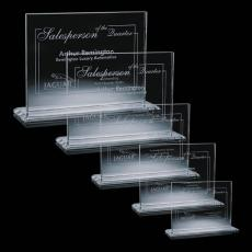 Custom-Engraved Crystal Awards - Emperor Award Starfire Crystal