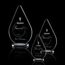 Color Accented Crystal Awards - Glenhazel Award