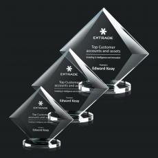 Custom-Engraved Crystal Awards - Teston Award