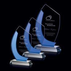 Custom-Engraved Crystal Awards - Nuffield Award