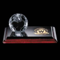 Clear Glass Awards - Soccer Trophy