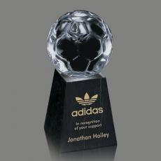 Clear Glass Awards - Soccer Award