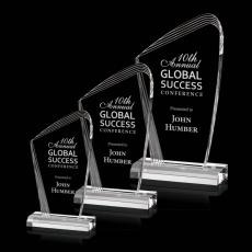Customized Clear Acrylic Awards - Simberg Award