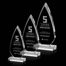 Customized Clear Acrylic Awards - Vanderbilt Award