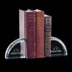 Custom-Engraved Crystal Awards - Ridgemount Bookends - Optical (Set 2)