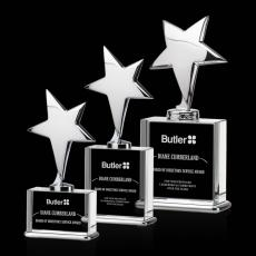 Custom-Engraved Crystal Awards - Rhapsody Star Award