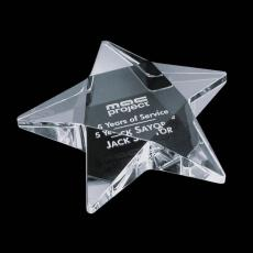 Crystal Star Awards - Pentagon Star Paperweight