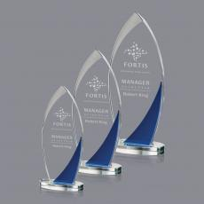 Custom-Engraved Crystal Awards - Harrah Award