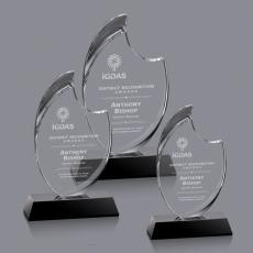 Custom-Engraved Crystal Awards - Waldorf Award