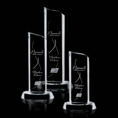 Custom-Engraved Crystal Awards - Kilburn Tower