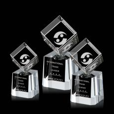 Custom-Engraved Crystal Awards - Stroud Rotating Cube