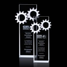 Custom-Engraved Crystal Awards - Ricarda Gear Award