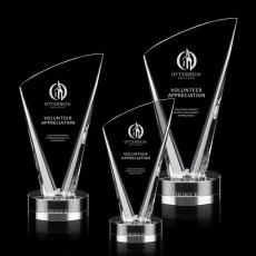 Custom-Engraved Crystal Awards - Brampton Award