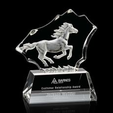 Custom-Engraved Crystal Awards - Ottavia Horse