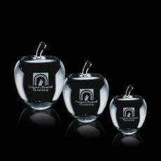Custom-Engraved Crystal Awards - Melford Apple