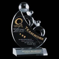 Custom-Engraved Crystal Awards - Teamwork Award