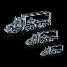 Custom-Engraved Crystal Awards - Optical 18 Wheeler