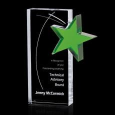 Custom-Engraved Crystal Awards - Sabatini Star Award