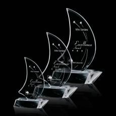 Custom-Engraved Crystal Awards - Palmeira Sailboat