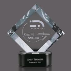 Custom-Engraved Crystal Awards - Merino Award
