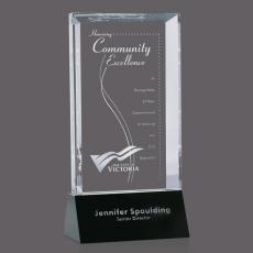 Custom-Engraved Crystal Awards - Nelson Award
