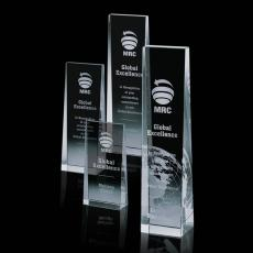 Custom-Engraved Crystal Awards - Milnerton Award