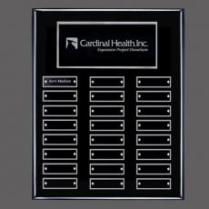 Custom Engraved Wall Plaques - Oakleigh Vert Pert/Plaque - Black/Silver with Plates