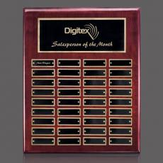 Traditional Plaques - Oakleigh Vert Pert/Plaque - Rosewood/Gold 36 Plate