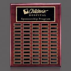 Traditional Plaques - Oakleigh Vert Pert/Plaque - Rosewood/Gold 60 Plate